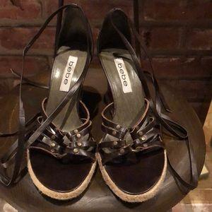 BEBE wedge shoes